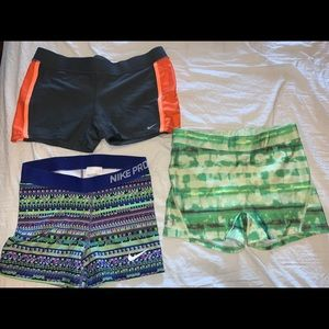 Lot Of 3 Women's UA & Nike Shorts Size Medium